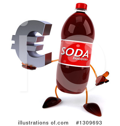 Soda Bottle Character Clipart #1309693 by Julos