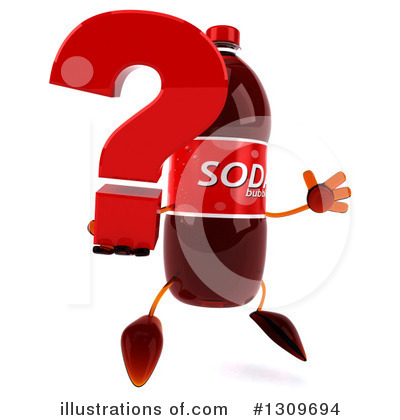 Royalty-Free (RF) Soda Bottle Character Clipart Illustration by Julos - Stock Sample #1309694