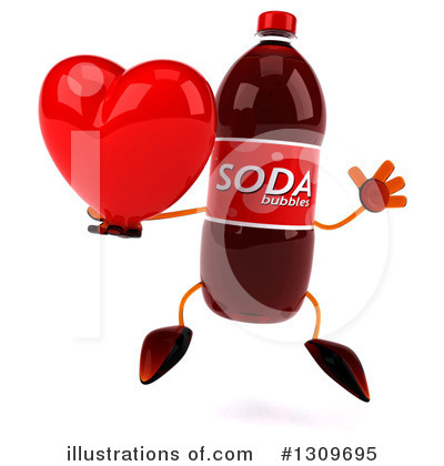 Soda Bottle Character Clipart #1309695 by Julos