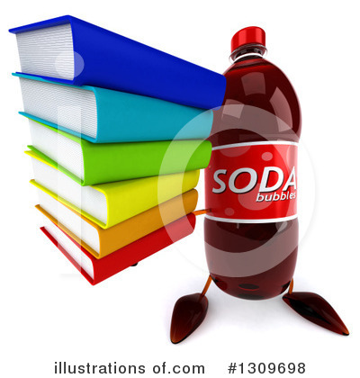 Soda Bottle Character Clipart #1309698 by Julos