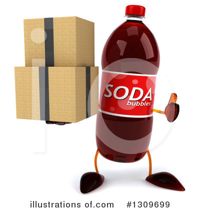 Soda Bottle Character Clipart #1309699 by Julos