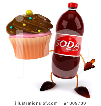 Soda Bottle Character Clipart #1309700 by Julos