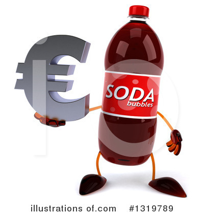 Soda Bottle Character Clipart #1319789 by Julos