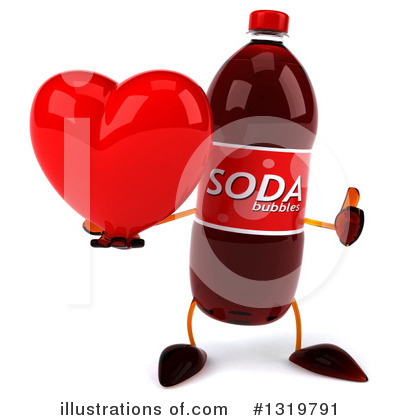 Soda Bottle Character Clipart #1319791 by Julos