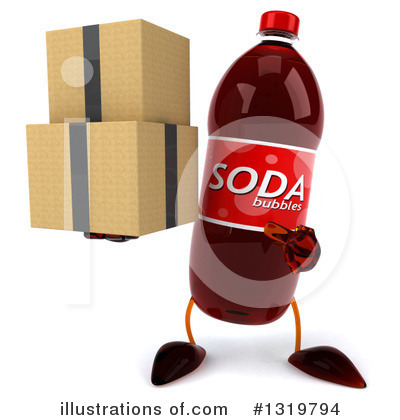 Soda Bottle Character Clipart #1319794 by Julos