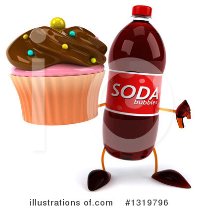 Soda Bottle Character Clipart #1319796 by Julos
