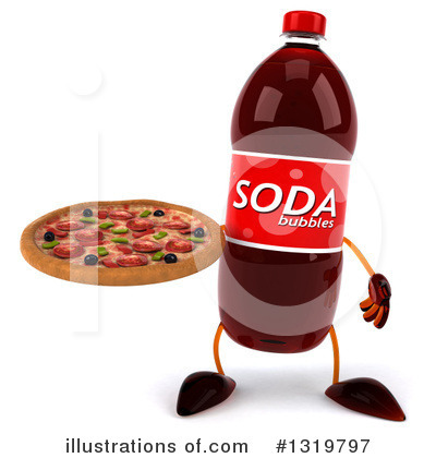 Soda Bottle Character Clipart #1319797 by Julos