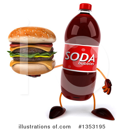 Soda Bottle Character Clipart #1353195 by Julos