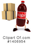 Soda Bottle Character Clipart #1406954 by Julos