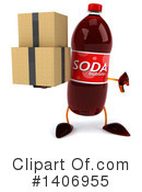 Soda Bottle Character Clipart #1406955 by Julos