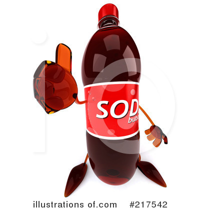 Soda Bottle Character Clipart #217542 by Julos