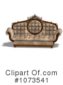 Royalty-Free (RF) Sofa Clipart Illustration #1073541