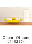 Sofa Clipart #1102854 by KJ Pargeter