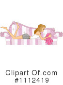 Royalty-Free (RF) sofa Clipart Illustration #1112419
