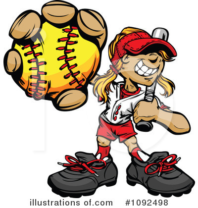 Softball Clipart #1092498 by Chromaco