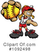 Royalty-Free (RF) Softball Clipart Illustration #1092498