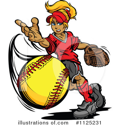 Royalty free rf softball clipart illustration by chromaco stock
