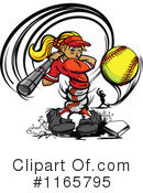 Royalty-Free (RF) softball Clipart Illustration #1165795