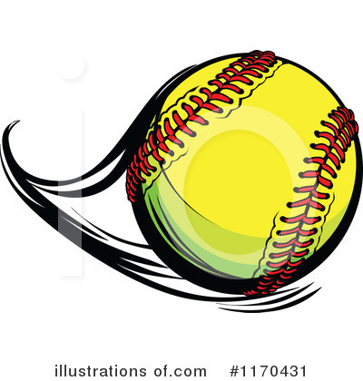 Softball Clipart #1170431 by Chromaco