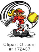Softball Clipart #1172437 by Chromaco