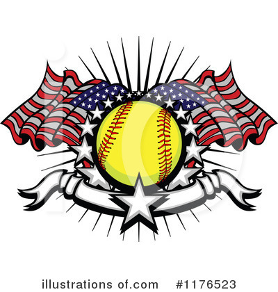 Softball Clipart #1176523 by Chromaco