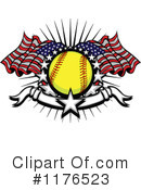 Royalty-Free (RF) Softball Clipart Illustration #1176523