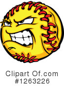 Softball Clipart #1263226 by Chromaco