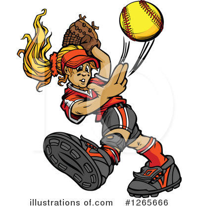 Softball Clipart #1265666 by Chromaco