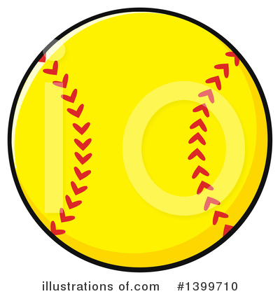Softball Clipart #1399710 by Hit Toon