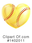 Royalty-Free (RF) Softball Clipart Illustration #1402011