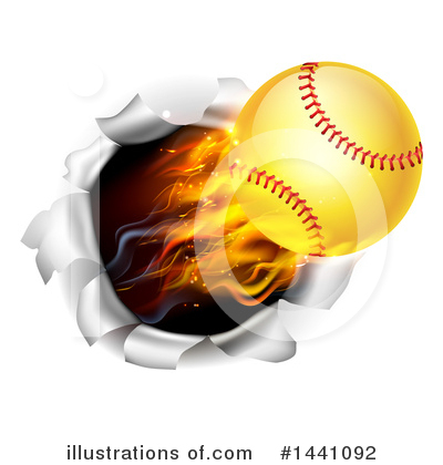 Softball Clipart #1441092 by AtStockIllustration