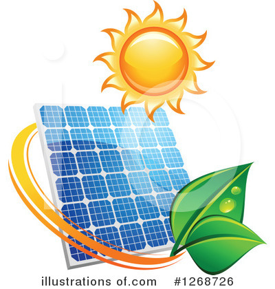 Solar Energy Clipart #1268726 by Vector Tradition SM