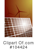 Royalty-Free (RF) Solar Energy Clipart Illustration #104424