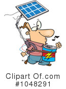 Royalty-Free (RF) Solar Energy Clipart Illustration #1048291
