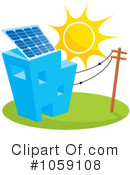 Royalty-Free (RF) Solar Energy Clipart Illustration #1059108
