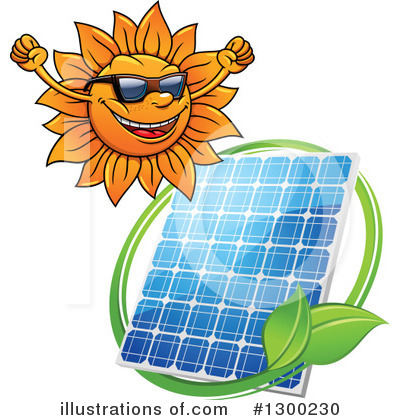 Solar Panel Clipart #1300230 by Vector Tradition SM