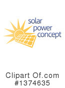 Royalty-Free (RF) Solar Energy Clipart Illustration #1374635