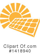 Royalty-Free (RF) Solar Energy Clipart Illustration #1418940