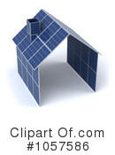 Royalty-Free (RF) Solar Panel Clipart Illustration #1057586