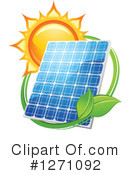 Solar Panel Clipart #1271092 by Vector Tradition SM