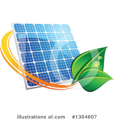 Solar Energy Clipart #1304607 by Vector Tradition SM