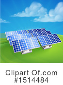 Royalty-Free (RF) Solar Panels Clipart Illustration #1514484