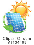 Royalty-Free (RF) Solar Power Clipart Illustration #1134498
