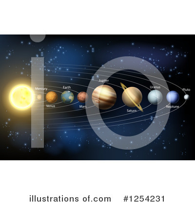 Solar System Clipart #1254231 by AtStockIllustration