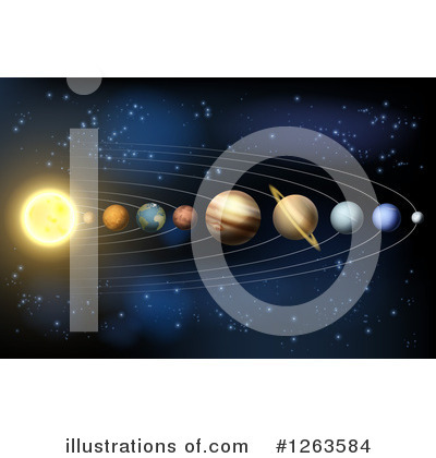 Solar System Clipart #1263584 by AtStockIllustration