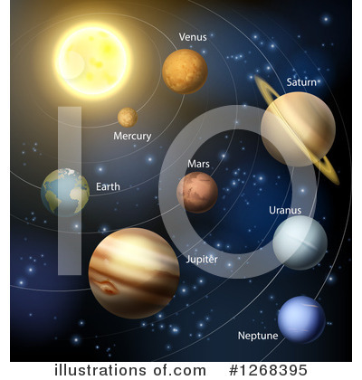Solar System Clipart #1268395 by AtStockIllustration