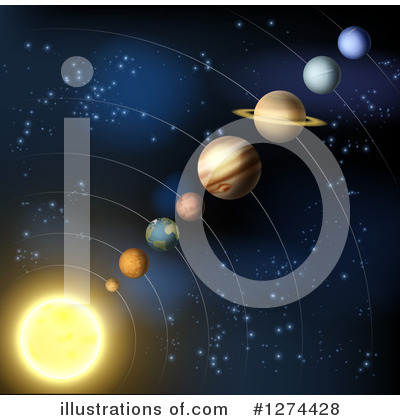 Solar System Clipart #1274428 by AtStockIllustration
