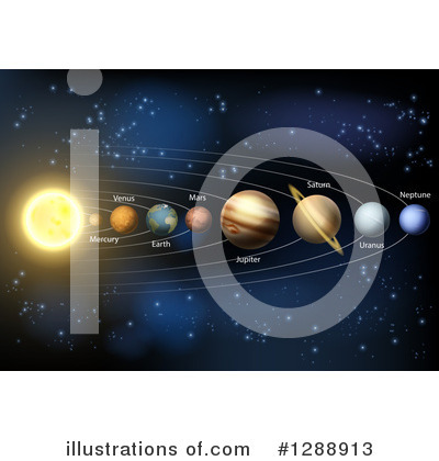 Solar System Clipart #1288913 by AtStockIllustration
