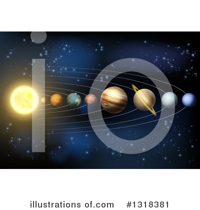 Solar System Clipart #1318381 by AtStockIllustration