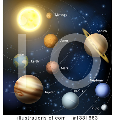 Solar System Clipart #1331663 by AtStockIllustration